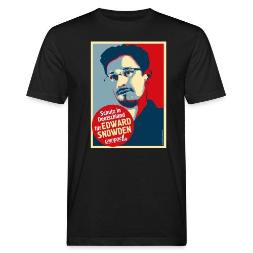 Motiv Snowden Obama SPREADSHIRT 01 jpg - Männer Bio-T-Shirt