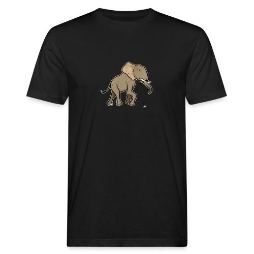 African Elephant (black edition) - Økologisk T-skjorte for menn