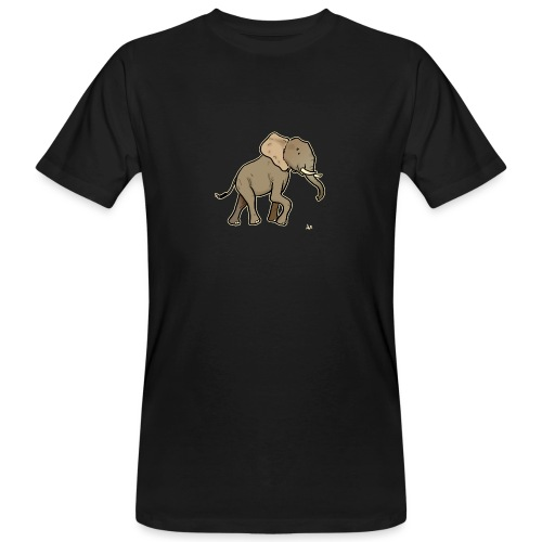 African Elephant (black edition) - T-shirt bio Homme