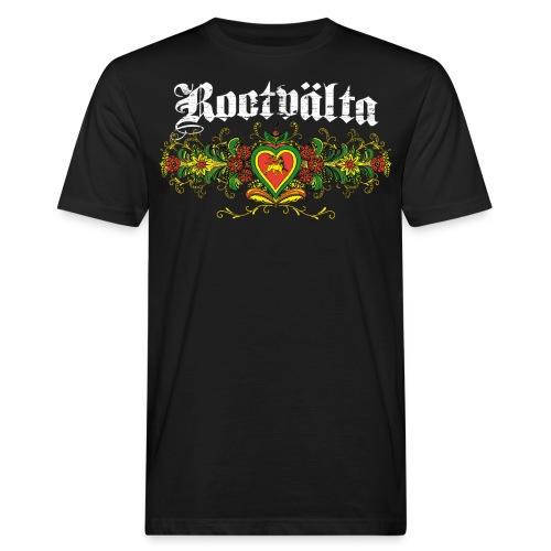 Rootvalta_kurbitslogo_whi - Ekologisk T-shirt herr