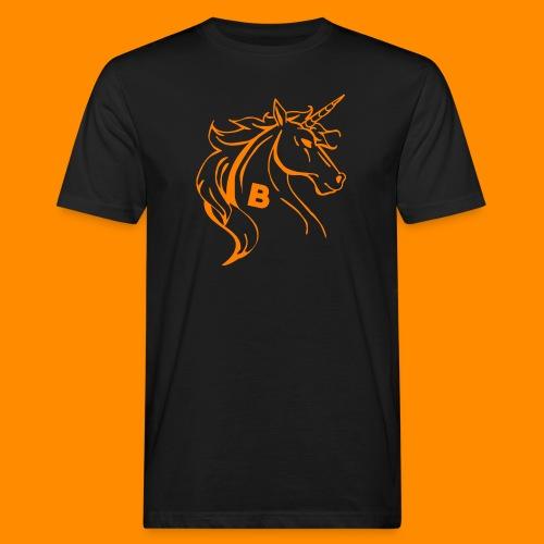 orange biodusty unicorn shirt - Mannen Bio-T-shirt