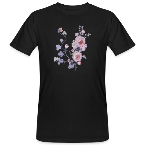 Schlichte Blumen - Männer Bio-T-Shirt