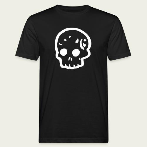 Skull logo whi - Camiseta ecológica hombre