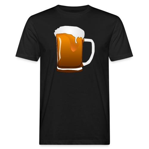 Cartoon Bier Geschenkidee Biermaß - Männer Bio-T-Shirt