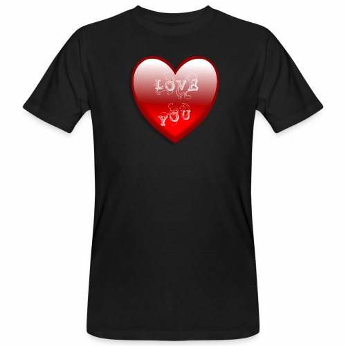 Love You - Männer Bio-T-Shirt