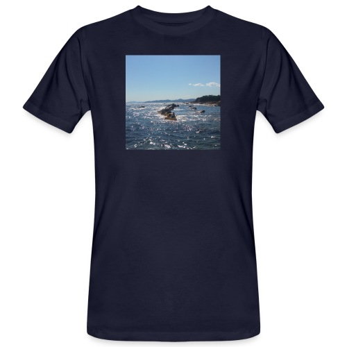 Mer avec roches - T-shirt bio Homme