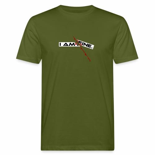 I AM FINE Design mit Schnitt, Depression, Cut - Männer Bio-T-Shirt