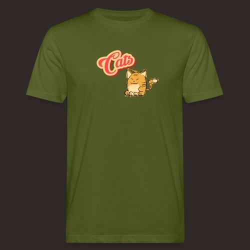 Katze | Katzen süß Schriftzug - Männer Bio-T-Shirt