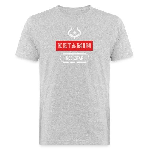 KETAMIN Rock Star - White/Red - Modern - Men's Organic T-Shirt
