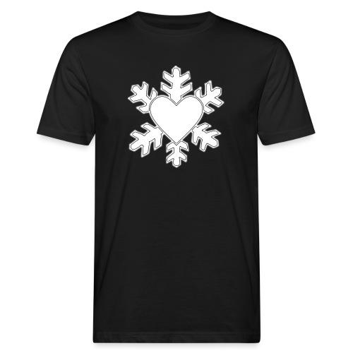 Flocon coeur 3D - T-shirt bio Homme