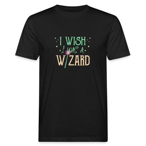 I Wish I Was A Wizard - Green - Men's Organic T-Shirt