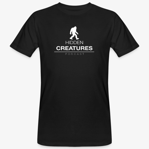 Hidden Creatures Logo White - Men's Organic T-Shirt