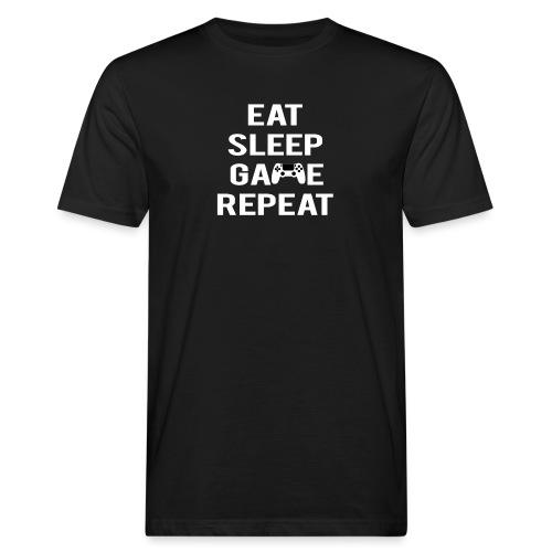 Eat, sleep, game, REPEAT - Men's Organic T-Shirt