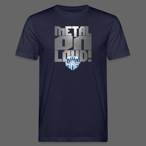 metalonloud large 4k png - Men's Organic T-Shirt