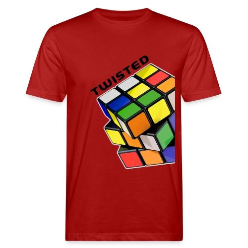 Rubik's Cube Twisted Sides - Ekologisk T-shirt herr