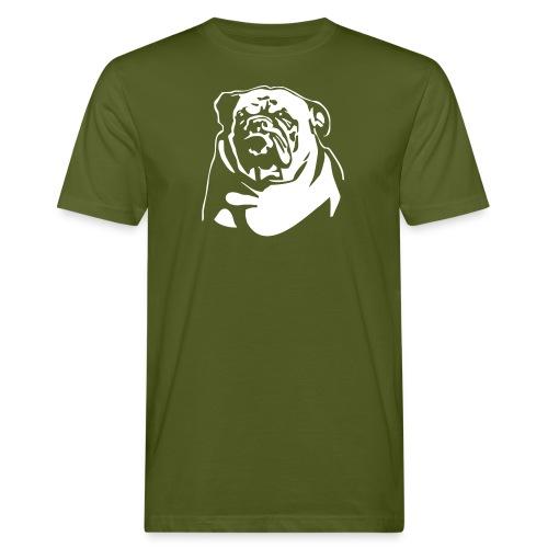 English Bulldog - negative - Miesten luonnonmukainen t-paita
