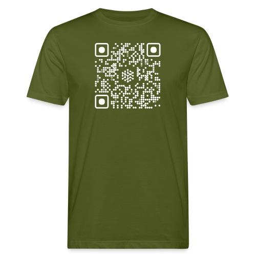 QR Safenetforum White - Men's Organic T-Shirt