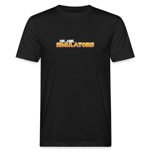 we are simulators tshirt logo - Men's Organic T-Shirt