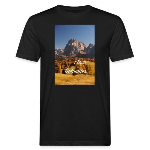 Langkofel - Wahrzeichen Südtirols - Männer Bio-T-Shirt