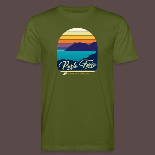 Porto Ferro - Vintage travel sunset - T-shirt ecologica da uomo