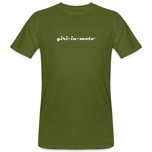 GIRI IN MOTO LIFESTYLE RACING BIANCO - T-shirt ecologica da uomo