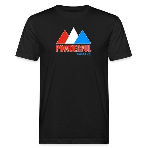 Powderful Sweet Ski - Männer Bio-T-Shirt