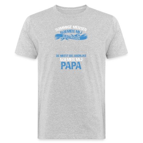 Electricien papa vaderdag cadeau. Cadeau-idee - Mannen Bio-T-shirt