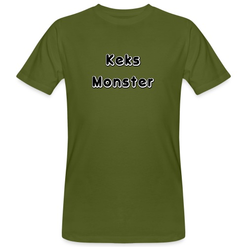 Keks Monster - Männer Bio-T-Shirt