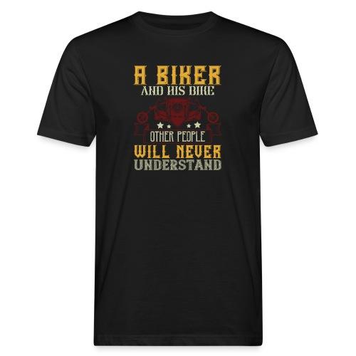 A biker and his bike. - Men's Organic T-Shirt