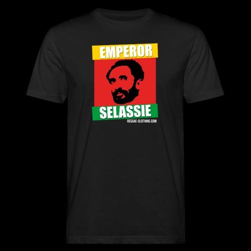 EMPORER SELASSIE red gold green - Männer Bio-T-Shirt