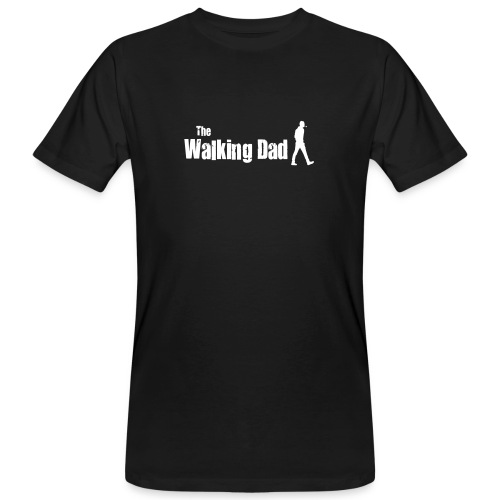 the walking dad white text on black - Men's Organic T-Shirt