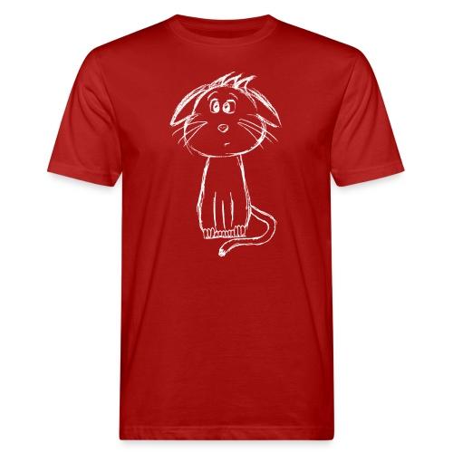 Kissa Kissanpentu valkoinen scribblesirii - Miesten luonnonmukainen t-paita