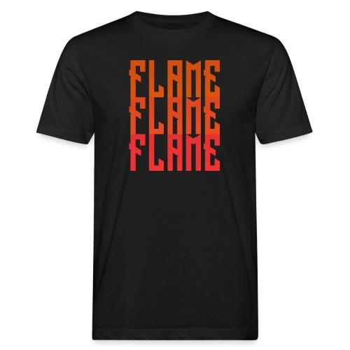 maglietta_flame_flame_flame - T-shirt ecologica da uomo
