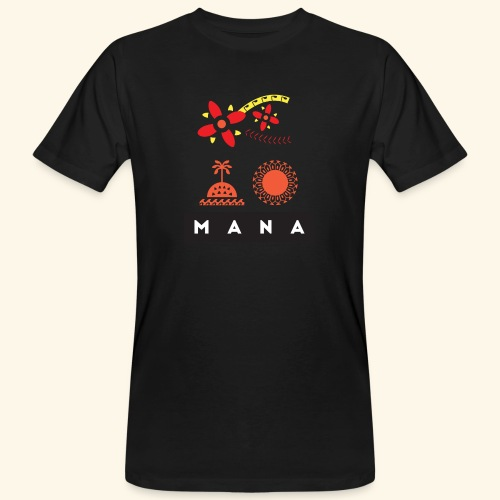 Mana Surf Sun Sea Flowers and Love by Te-Moana - Männer Bio-T-Shirt