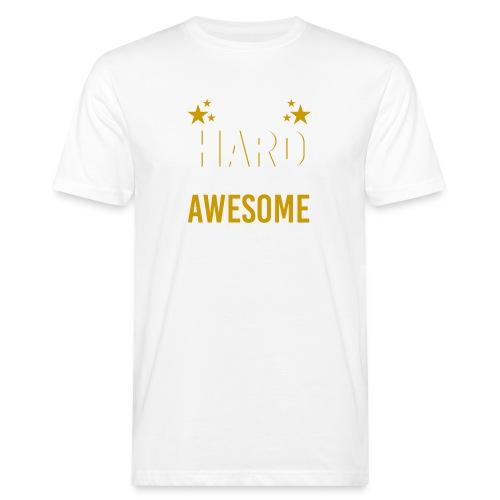 WORK HARD BE AWESOME - Männer Bio-T-Shirt