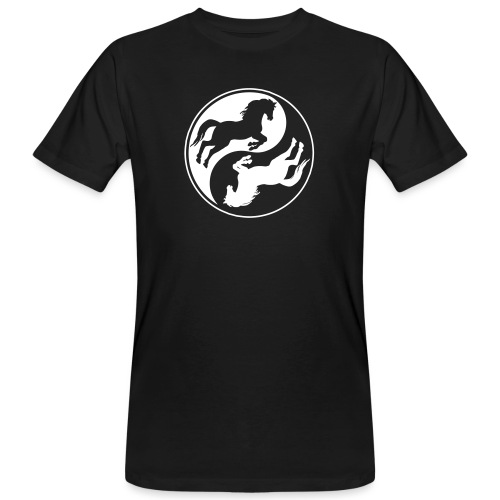 Vorschau: Horse Ying Yang - Männer Bio-T-Shirt