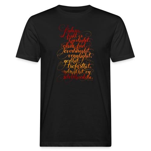 Åndens frukt - Økologisk T-skjorte for menn
