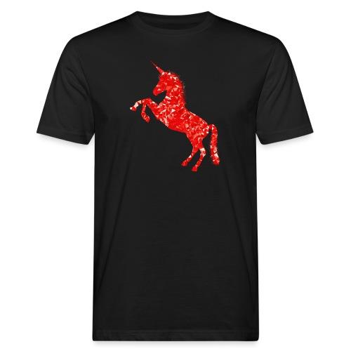 unicorn red - Ekologiczna koszulka męska