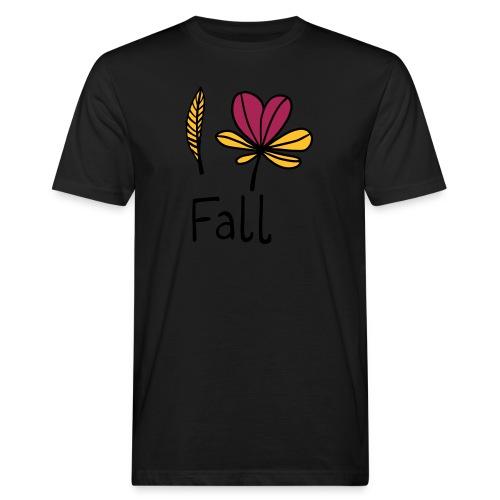 Fall in love - Männer Bio-T-Shirt