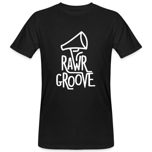 RawrGroove white - Men's Organic T-Shirt