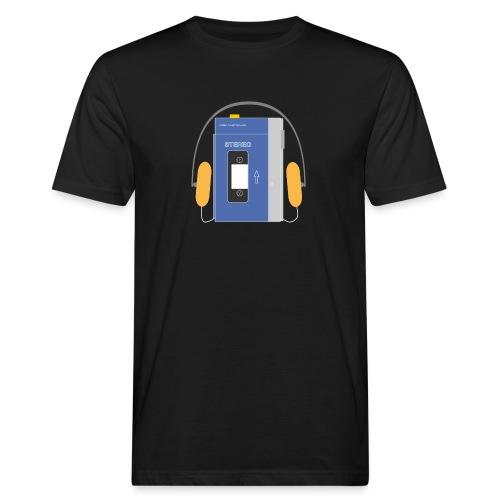 Stereo walkman in blue - Men's Organic T-Shirt