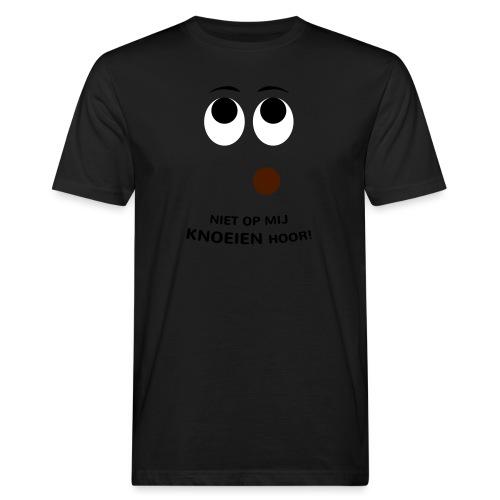Grappige Rompertjes: Niet op mij knoeien hoor - Mannen Bio-T-shirt