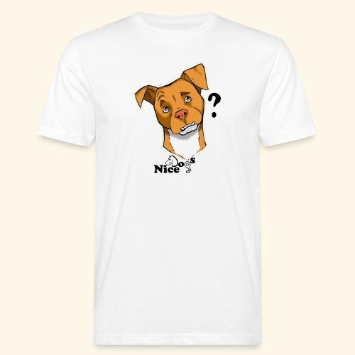 Nice Dogs pitbull 2 - T-shirt ecologica da uomo