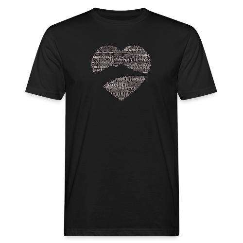 cuordinapoli black - T-shirt ecologica da uomo