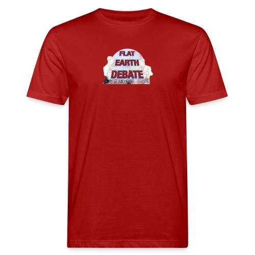 Flat Earth Debate Cartoon - Men's Organic T-Shirt