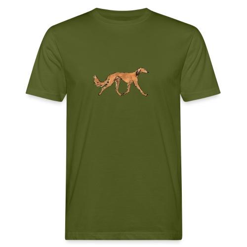 Roter Saluki - Männer Bio-T-Shirt