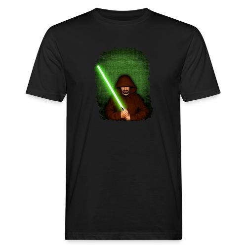 Jedi warrior with green lightsaber - T-shirt ecologica da uomo