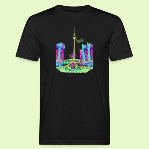 Berlin Alexanderplatz / BerlinLightShow /PopArt - Männer Bio-T-Shirt