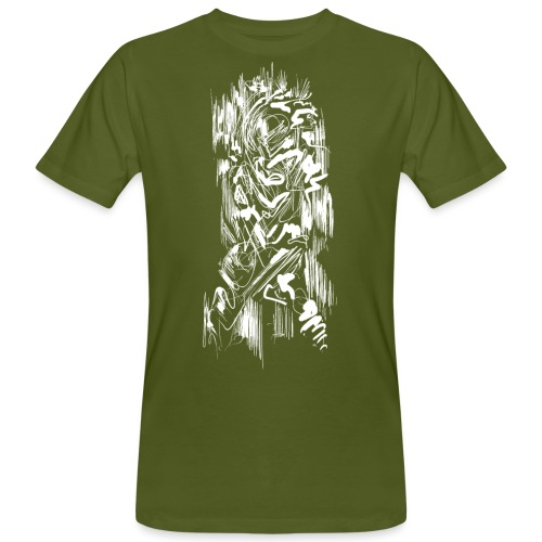 Samurai / White - Abstract Tatoo - Men's Organic T-Shirt