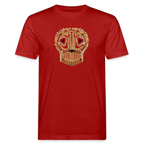 dead skull resembles herbaceous scary culture art - Men's Organic T-Shirt
